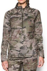 Under Armour women's 1/2  zip Ridge Reaper Camo Pullover size Large $80