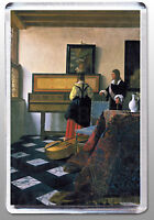 THE MUSIC LESSON LARGE FRIDGE MAGNET - CLASSIC VERMEER!