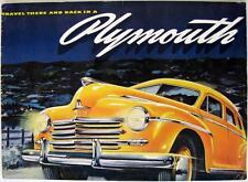 Plymouth gamma brochure originale auto di vendita in ritardo 1940s Stampa USA