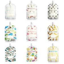 150ml Sinchies Reusable BPA Free Safe Baby Infant Food Squeeze Pouches 5 10 Pack
