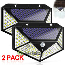 2Pack Solar Light 100 LED Wireless Motion Sensor Lamp Outdoor Yard Floodlight