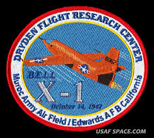 NASA DRYDEN FLIGHT RESEARCH CENTER BELL X-1 CHUCK YEAGER COMMEMORATIVE PATCH