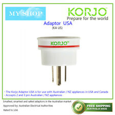 Kaus Korjo Aust. to USA Travel Adaptor for Australia 240v Plug- Fit28
