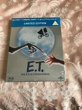 E.T., blu ray steelbook, new and sealed