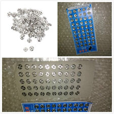 50Pcs Metal Sew on Snaps Fasteners Clothes Shirts Button Poppers DIY Crafts 10MM