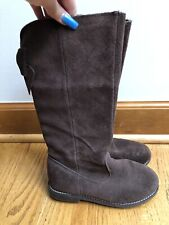 Gymboree Tall Boots Brown suede High Bow Toddler Girls Size 13