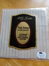 """Tear Away Waste Canvas 14 Count Cross Stitch Embroidery 6x6"""""""