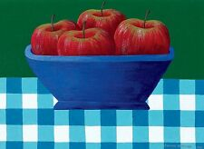 Joanne Netting - Apples, acrylic on canvas, Framed