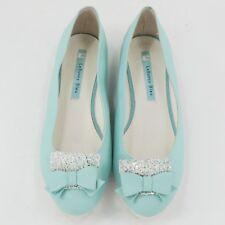 Le Bunny Bleu Size 8 Ballet Flats Simple Soft Suede Black Dress Shoes Mint