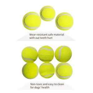 6 9 12 Pcs Dog Tennis Balls IFetch Chew Toys Pet Puppy Dogs Non-toxic Safe Fun