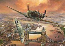 Puzzle Puzzel Jumbo Spitfire over London Tower Bridge Luftkampf Krieg 1000