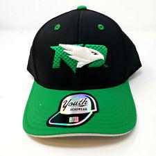 Youth North Dakota Fighting Hawks Hat Cap Snapback Black Green NCAA