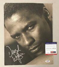 Denzel Washington Signed 11x14 Magazine Page Photo AUTO Autograph PSA/DNA COA