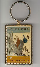 ISRAEL DUCK COLOR KEYCHAIN GOLD PLATED