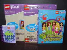 NEW LEGO Friends School Supply Lot 4 Folders Spiral Notebook Paper Pocket NIP