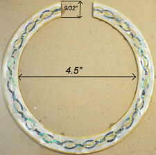 RS2# Rosette Inlay Paua Abalone & Gold White Mother of Pearl 1.5mm thickness