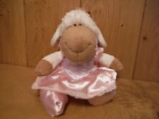 Nici Soft Toy Sheep in a pink dress (020)