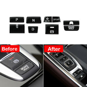 Car Gear Shift Switch Button Guard Glossy Black Cover For Honda Accord 2018-2020
