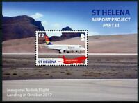 St Helena Aviation Stamps 2018 MNH Airport Project III Airlink Aircraft 1v M/S
