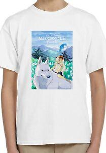 Princess Mononoke Anime Manga Holiday Kids Unisex Top Birthday Gift T-Shirt 60