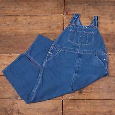 Womens Vintage Roebucks Denim Blue Dungarees / Overalls 44 X 28 R4221