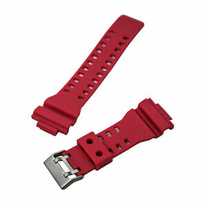 Hadley Roma Watch Strap 16mm Wide Red. Fits Casio G-Shock. MS3220