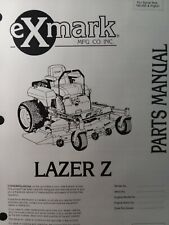Exmark Lazer Z Zero Turn Riding Lawn Mower Parts Manual 52 60 72 190000up Red