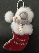 "RARE - ME TO YOU 6-7"" SOFT PLUSH TATTY TEDDY BEAR XMAS TREE HANGING DECORATION"