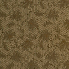 E507 Green Floral Jacquard Woven Upholstery Grade Fabric By The Yard