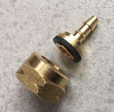 Kit Tuerca + Tetina 6mm para Botella NARANJA Y AZUL G.L.P 3kg Gas Butano Propano