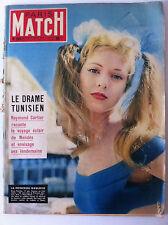 >Paris Match 07/08/1954; Elena Portello, princesse gauloise/ Drame Tunisien