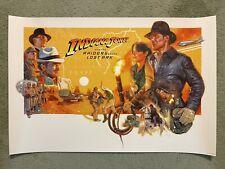 Raiders Of The Lost Ark Indiana Jones Art Print Poster Movie Mondo Hugh Fleming