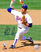 NOLAN RYAN Signed Texas Rangers Pitching Action 8x10 Photo - SCHWARTZ