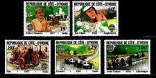 SELLOS COCHES COSTA DE MARFIL 1981 593/97 5v. FIAT/ FERRARI/ FELICE NAZARRO