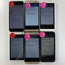Lot of 6 Mixed Model HTC Phones Sprint/Virgin Mobile/Boost READ DESCRIPTION