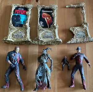 McFarlane Movie Maniacs Lot Freddy Krueger Jason Voorhees Action Figure Loose +