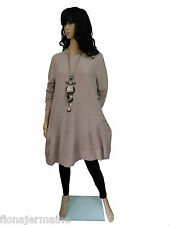 Gr. 38/40/42 Kleid  Big-Shirt  Tunika  Puder-Rosa  LAGENLOOK