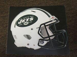 "NEW YORK JETS HELMET NFL Fathead Wall Graphics 11"" x 9""  (Poster/Sticker)"