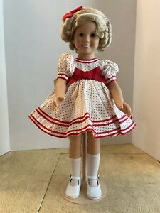 Danbury Mint The Shirley Temple Dress Up Doll  with Box & registration papers