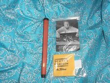 NEW CAMERON PUTTER OIL CLOTH+NEW TAN STITCHBACK PUTTER GRIP A FATHER'S DAY GIFT