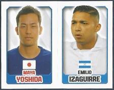TOPPS ENGLAND 2014- #160-345-JAPAN-MAYA YOSHIDA-HONDURAS-EMILIO IZAGUIRRE