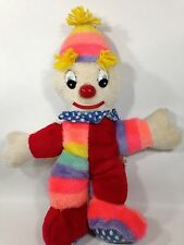 RARE Shalom Toy Vintage Circus CLOWN Plush Doll made in KOREA 14""