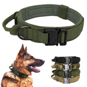 Military Tactical Dog Collar German Shepard Medium Large Dog Collar For Training