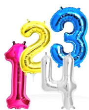 """40"""" Giant Number Balloons Air Helium Balloon Party Reusable 40 Inch Foil Balloon"""