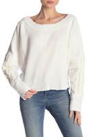 Free People Damen Josie Knit OB889091 Top Relaxed Elfenbein Größe XS