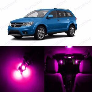 10 x Pink LED Interior Light Package Kit For Dodge Journey 2009 - 2018 + TOOL