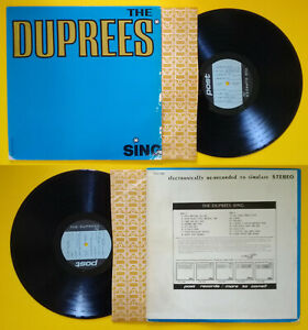 LP 33 Giri THE DUPREES The Duprees Sing Post Records POST-1000 Doo Wop no cd mc