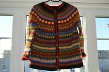 Icelandic cardigan,Icelandic hand knitted,mutilcolor sweater,Lopapeysa,size S