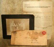 1924 Prohibition Memorabilia Intent Registration Production Fruit Juices & Photo