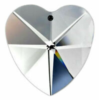 Clear Lead Crystal Heart Chandelier Crystals 40mm Prism Suncatcher